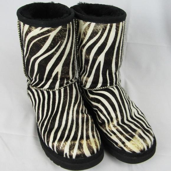 2c0492201a8 UGG Classic Short Exotic Zebra Calf Hair Boots sz7